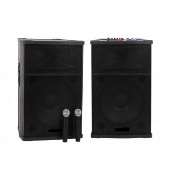 Boxe Profesionale 800 w Active NRS DS2005 cu Mixer si Bluetooth Sisteme Audio Boxe