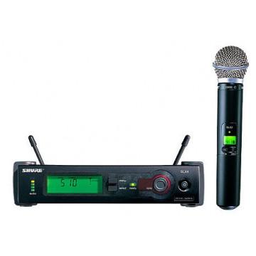 Microfon Profesional Wi-Fi Shure SLX24 BETA58A Microfoane