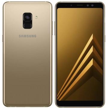 Samsung Galaxy A8 2018 Dual SIM Gold Telefoane Mobile SmartPhone