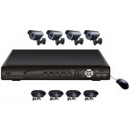 KIT supraveghere video 4 camere CCTV 6004A